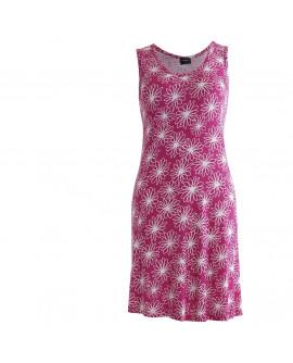 Wiki Bamboo strandkjole i Floral pink