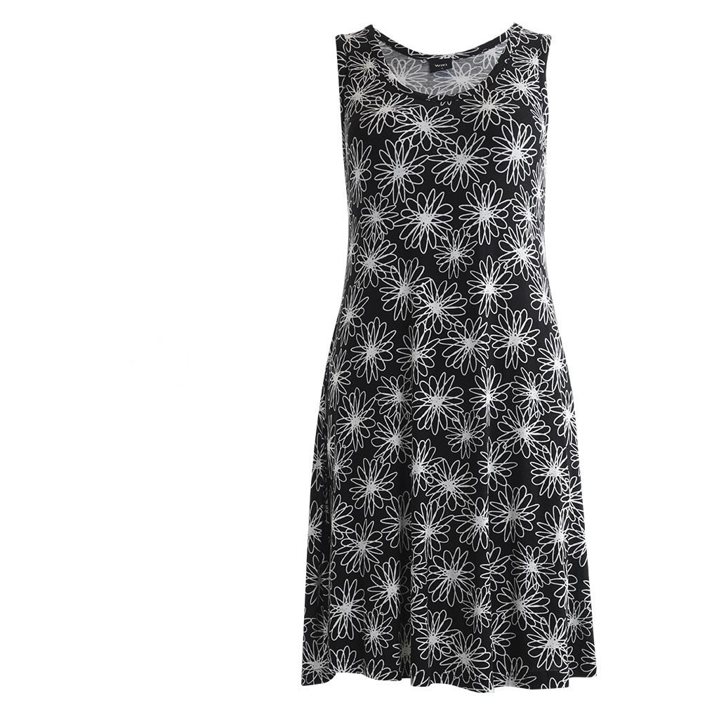 4ce617f3ea4 Køb Wiki Bamboo strandkjole i Floral black til bedste pris