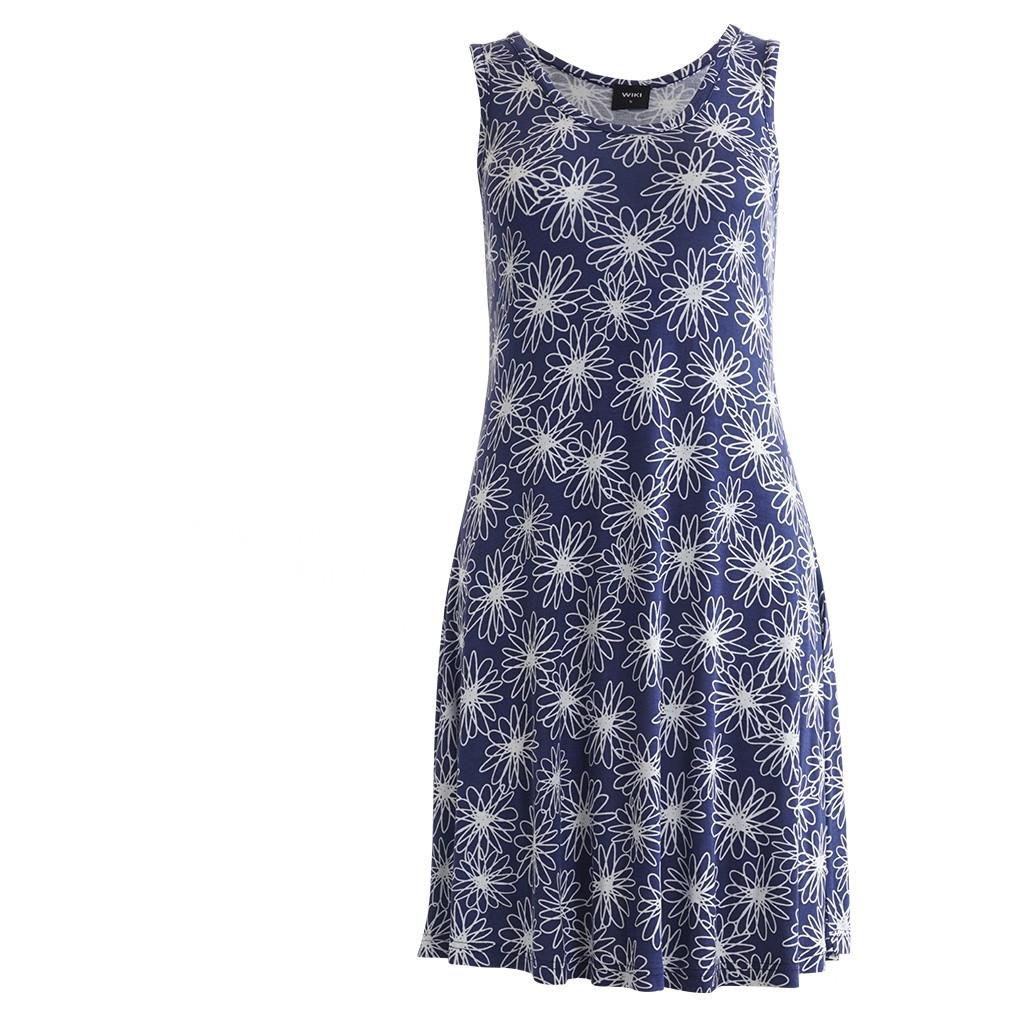 6525b5da7d0 Køb Wiki Bamboo strandkjole i Floral navy til bedste pris