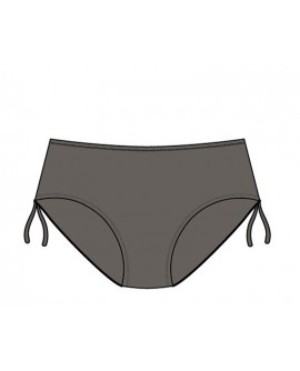 Wiki Midi brief bikini trusser Khaki
